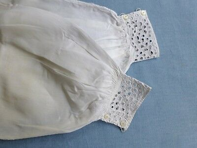 Antq undersleeves engageantes cuffs hand stitched early 19th cent. (a)