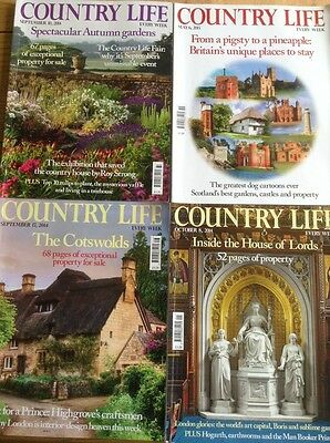 4 Country Life Magazines September October May 2015