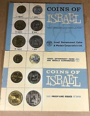COINS of ISRAEL  VARIOUS YEARS 1963  to  1983   19 sets in this sale   P- 39 L-2