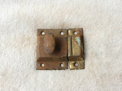 Antique Metal Large HOOSIER Cabinet Cupboard Turn Knob Latch Arts Crafts OLD