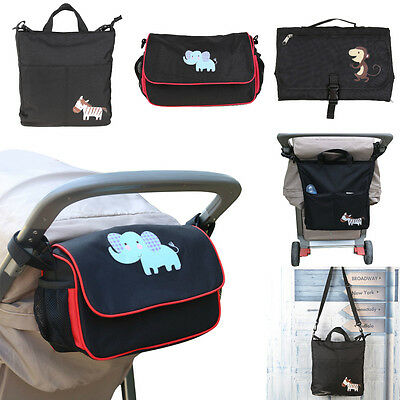 Baby Stroller Hanging Organizer Bags Nappy Diaper Cup Carriage Pram Travel Car