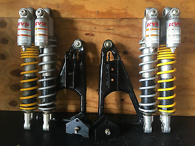 """Polaris RZR 800 50"""" KYB front rear resevoir shocks modified front A arms set"""
