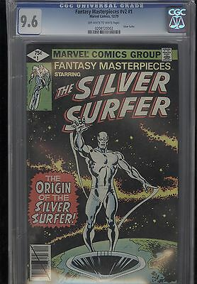 Fantasy Masterpieces #1 CGC 9.6 OW-W Pages Silver Surfer Marvel Comics 1979