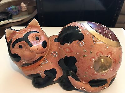 Vintage hand painted kutani/satsuma cat Japan Wildwood Imports, numbered