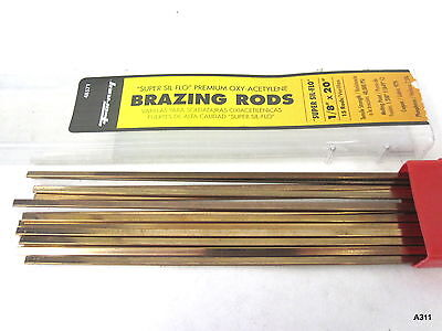 "Forney Super SIL-FLO 1/8"" X 20"" Brazing Rods (set of 15) # 48571"