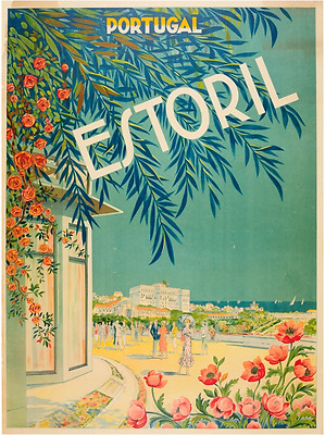 Estoril - Cascais Portugal Vintage Travel Advertisement Art Poster Print