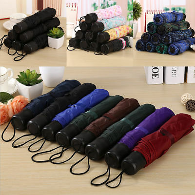 GUT New Travel Umbrella Auto Open Close Compact Folding Rain Windproof Anti UV
