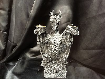 Twin Dragon Candle Holder