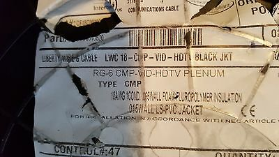 Liberty Wire/LWC 18-CMP RG6 HDTV SDI Serial Digital Coaxial Cable CMP Blk /250ft