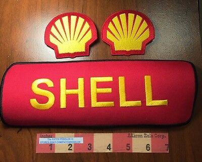 2 Sea Shell Logo For SHELL + 1 Huge ~ GAS STATION-OIL-PETROLEUM RELATED 5DL2