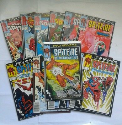 SPITFIRE and the troubleshooters 1-13 (1986) vf TODD MCFARLANE