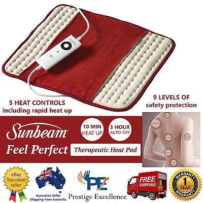 Sunbeam Electric Heat Pad Arthritis Joint Back Pain Relief Therapy Heating Pads