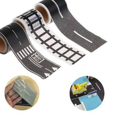 Railway Road Play Adhesive Tape Stickers For Children Toys Car Track Removable F