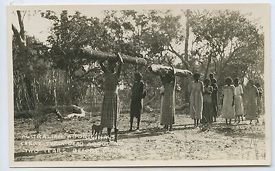 C1920's/30's Rp Scarce Postcard Aborigines Carry Their Dead North Australia L49