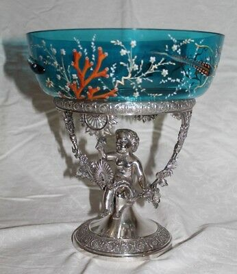 RARE  Aesthetic Figural Cherub Under the Sea Victorian Brides Basket
