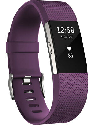 NEW FITBIT - FB407SPMS - Charge 2 Fitness Wristband Plum - Small from Bing Lee