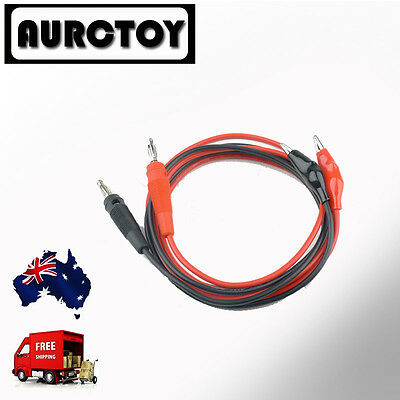 Alligator Multimeter Meter Power Supply Test Leads 4mm banana plug Clips OZ