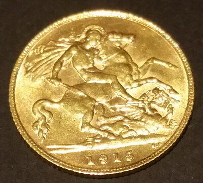 1915 Half Sovereign Gold coin aUNC-UNC Great Gift