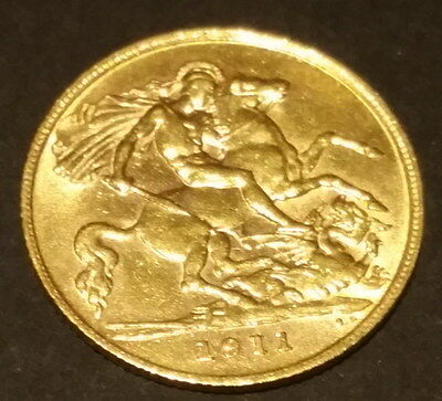 1911 Half Sovereign Gold coin aUNC-UNC Great Gift