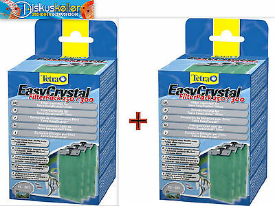 x 2 Tetra Tetratec EasyCrystal Filtre Pack 250 / 300 Marchandises neuves