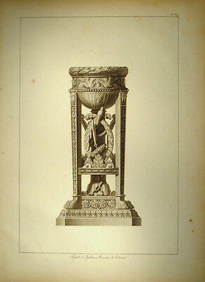 c1800 Ornament Architektur Antike Dreifuß Apollon Apollo Gr Kupfer Moreau
