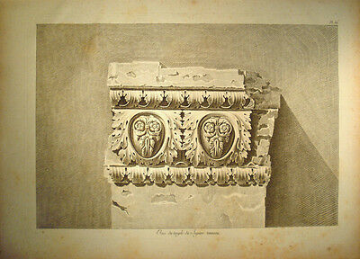 c1800 Ornament Architektur Antike Jupitertempel Temple Jupiter Kapitol Gr Kupfer