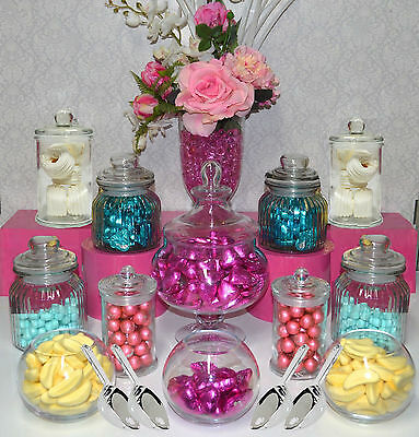 Candy Jar Lolly Buffet 12 Jar Set 4 x Scoops Apothecary Jars Party Wedding