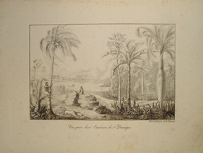 1821 Santo Domingo Dominican Republic Hispaniola Haiti Karibik Montule Litho