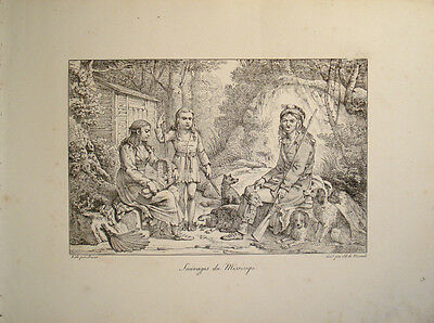 1821 Indianer Mississippi Native Americans American Indigenous People US Montule