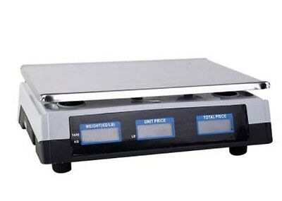 Digital Commercial Food Scale Meat Cheese Deli Pricing Retail Computer Reset New