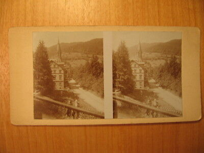 Altes Stereofoto Wildbad 1911 / Calw