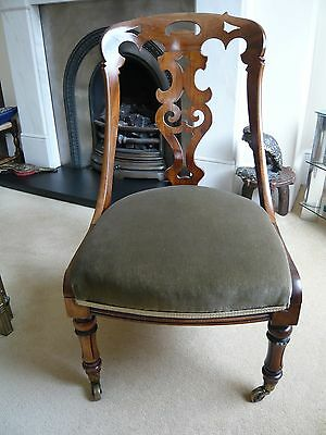 Carved fruit wood easy chair