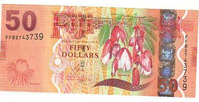 Fiji $50 dollar note bill circulated