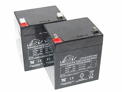 2 x 12V 5.4AH Razor CRAZY CART - UP-RATED Batteries - Replacement for 5ah
