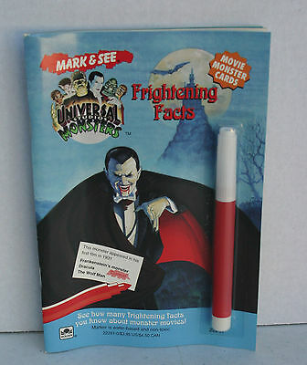 Universal Studios Monsters Mark and See Frightening Facts Golden Book Paperback
