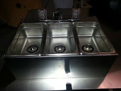 Stainless 3 Compartment  Sink; Ready To Install, Food Cart, Food Truck/ Tlr
