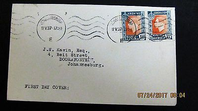 FDC George VI Pair 1 1/2d 1937 (Cover)