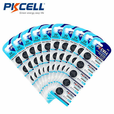 100pcs CR2032 CR 2032 ECR2032 3V Lithium Button Coin Cell Watch Battery PKCELL