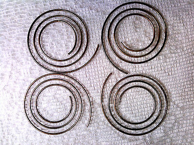 Vtg 50 COPPER COIL METAL BEADS 8mm JEWELRY STEAM PUNK GOTH #122013t