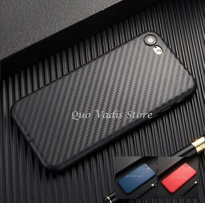 COVER CASE CUSTODIA SILICONE/GOMMA FIBRA CARBONIO PER IPHONE 5/5s/SE/6/6s/7/plus