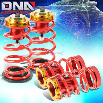 """For 12-15 Civic 1""""-4"""" Adjustable Suspension Coilover Sleeve Kit W/red Spring"""