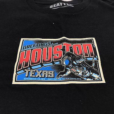New Small Eddie Vedder Houston Shirt 2011 Tour S Postcard Texas Astronaut