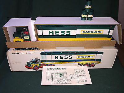 1976 Hess Barrel Truck, with all 3 barrels, lights work,rare,vintage,collectible