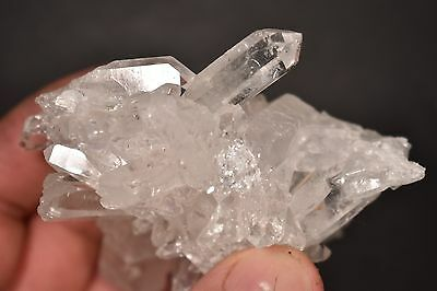 *VERY CLEAR* QUARTZ CRYSTAL CLUSTER 8.6cm 162g Healing, Master Healer