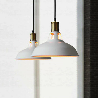 Industrial Retro Vintage Style Antique Barn Hang Pendant Light with Metal Dome