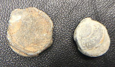 Lot Two Lead Trade Bale Seals Possibly Russian Or German Trade Coins