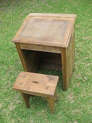 Lift Top School Writing Desk And Chair - ANTIQUE (19th Century)