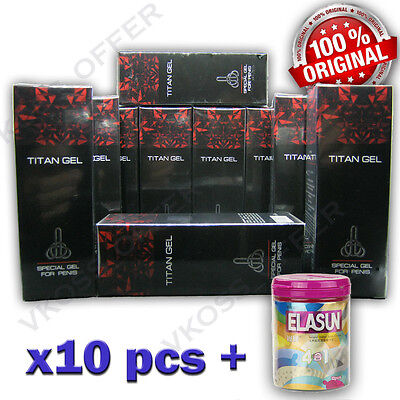 10x50 ml TITAN GEL INTIMATE LUBRICANT GEL FOR MEN GENUINE GARANTY 100%