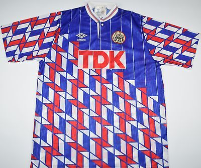 1989-1990 Ajax Umbro Away Football Shirt (Size L)