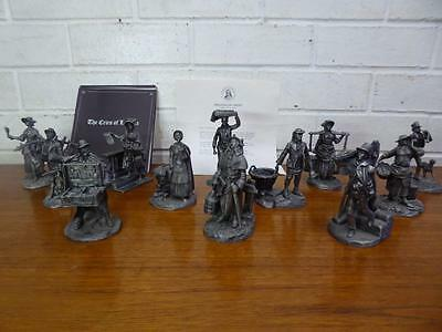 VINTAGE COLLECTORS FRANKLIN MINT FINE PEWTER THE CRIES of OLD LONDON FIGURINES